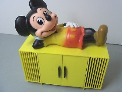 Vintage 1960's Mickey Mouse AM Radio Table Disney Concept 2000 - Working