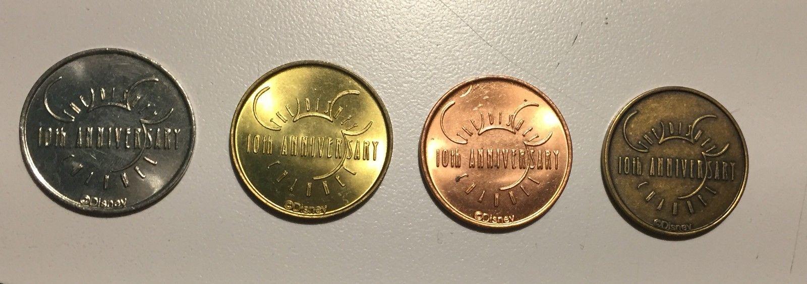 Disney Channel 10th anniversary promo Coin set COPPER, SILVER, GOLD, BRONZE