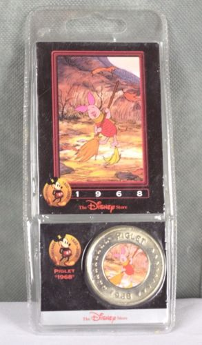 # 13 PIGLET Pig Winnie the Pooh Disney Store Decades Coin Card Collection
