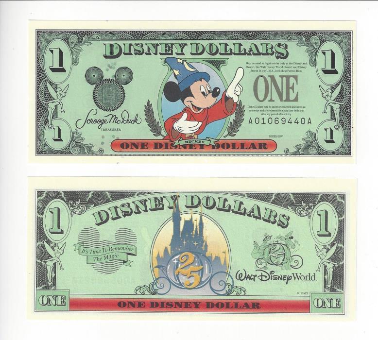 DISNEY DOLLARS YR  1997 1$
