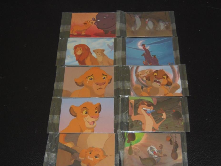LOT OF 10 unopened Lion King AMCTheatres Coke trading cards 30 cards in all!!!