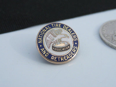 Vintage NATIONAL TIRE DEALERS & RETREADERS ASSOCIATION Enameled Medallion