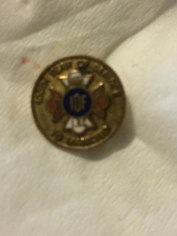 Vintage IOF Independent Order Foresters 100th Year Service Mankind Pin Pinback
