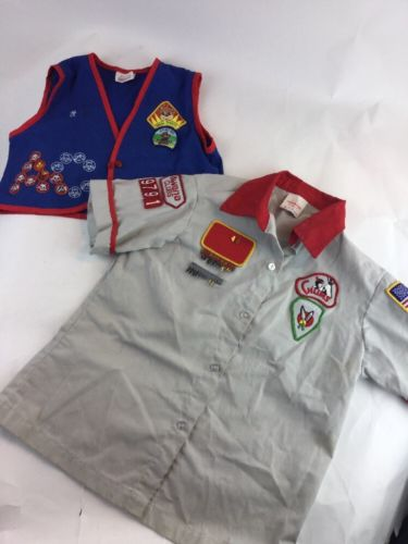 Awana Official Uniforms Vest Cubbies Chums  Lot - Vintage Cute