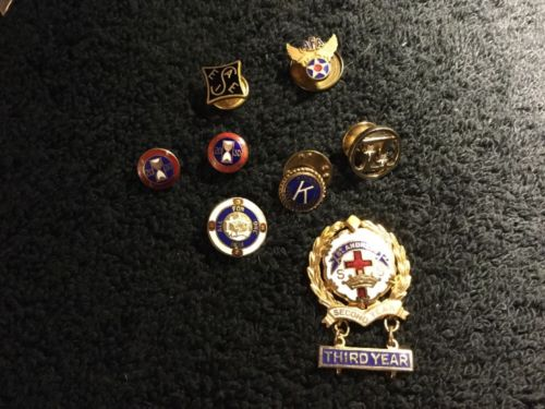FRATERNAL ORGANIZATION LAPEL PINS BEAUTIFUL AND RARE PINS LOT OF 8