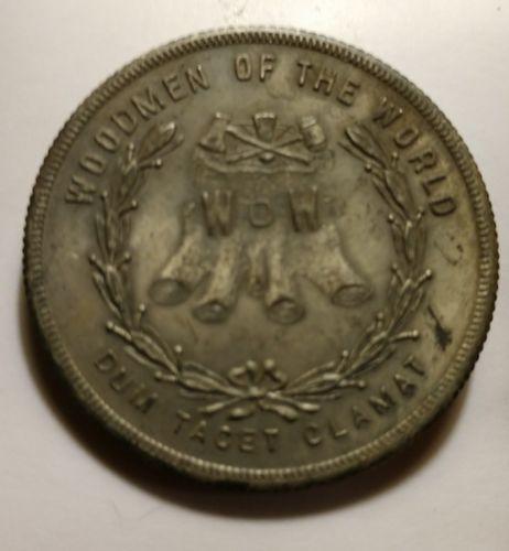 Antique Fraternal Coin Token Medal Modern Woodmen of The World