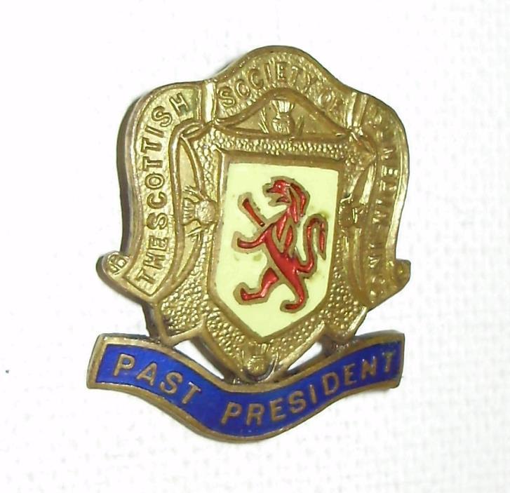 Vintage Scottish Society of Dunedin Past President Enamel Pin Scarce item