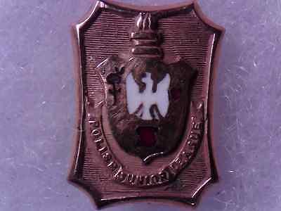 Antique Polish Junior League  Pin Gold Filled