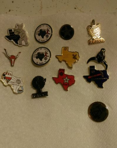 Lot (13) Vintage Optimist Club Texas Pins Circa 1980's