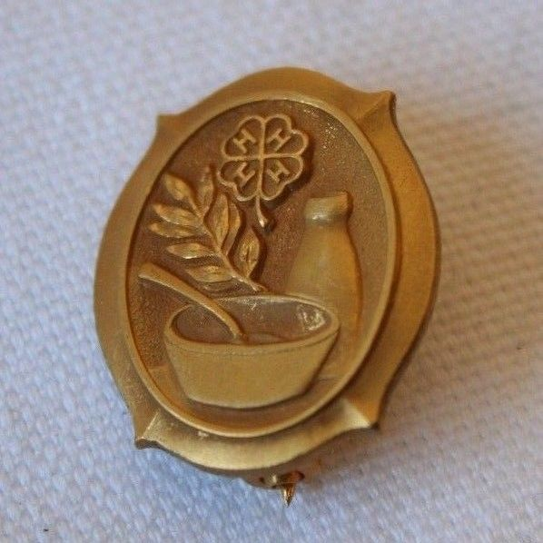 Vtg. 4-H County Honor Dairy Food Dem Kraft Cheese Co 1/20 10K GF Gold Filled PIN