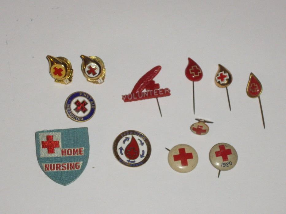 vintage Red Cross pin lot