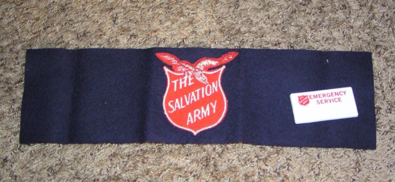 Salvation Army - EMERGENCY SERVICE ARM BAND AND BADGE