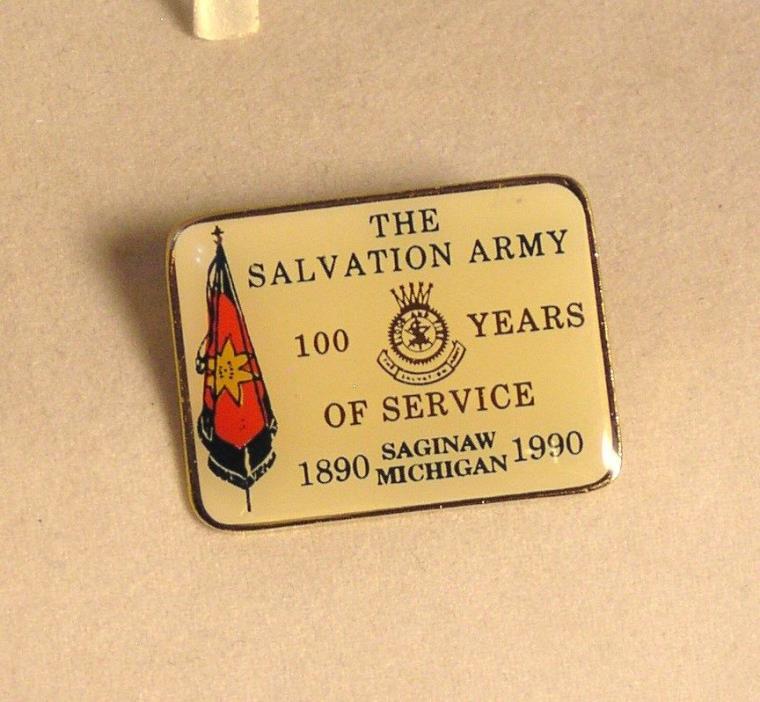 Salvation Army - PIN  100TH ANNIVERSARY - SAGINAW, MICH. 1990