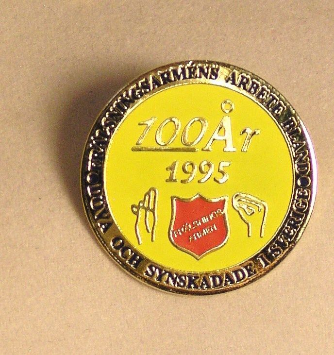 Salvation Army - PIN  FOREIGN PIN - 100 ANNIVERSARY - 1995