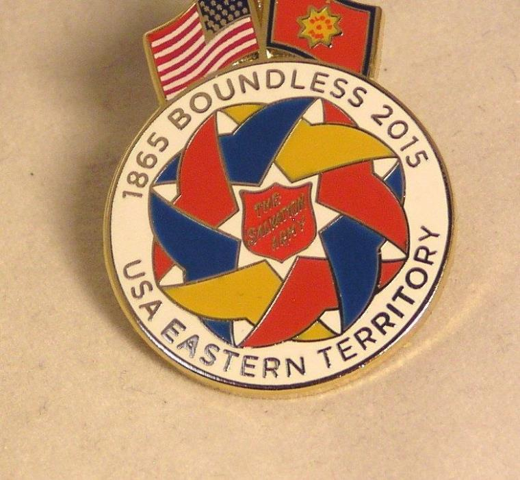 Salvation Army - 2015 INTERNATIONAL CONGRESS - BOUNDLESS PIN - EASTERN USA
