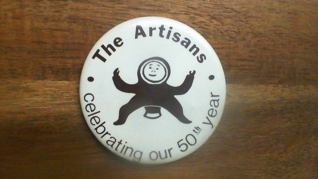 The Artisans Celebrating our 50th Year Pin Back  TU19