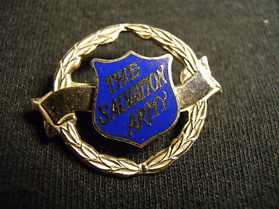 SALVATION ARMY LAPEL PIN / BADGE  S.A. SA BLOOD AND FIRE CANADA BOND BOYD