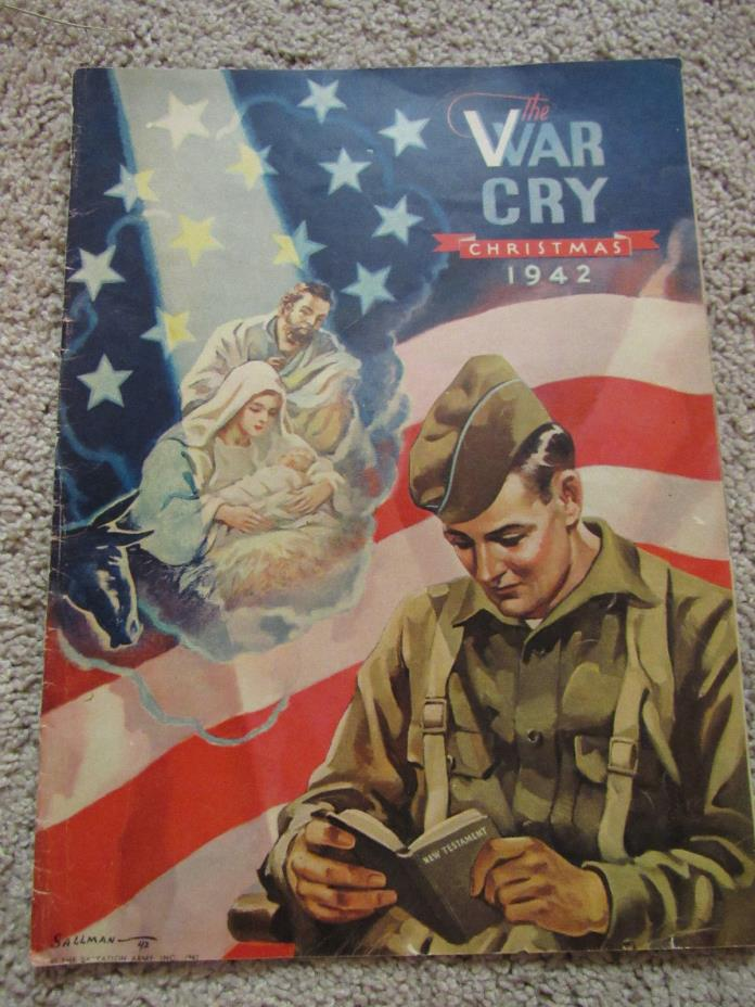 THE WAR CRY CHRISTMAS DEC 19 1942 BY SALVATION ARMY MAGAZINE PAPERBACK FAIR