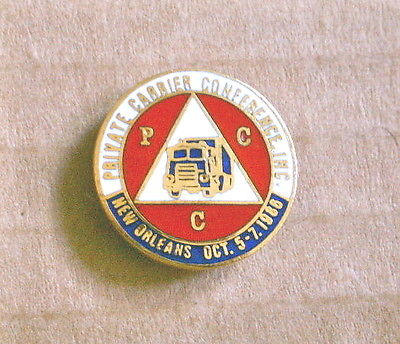 PCC Private Carrier Conference Pin, New Orleans 1988