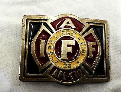 Vintage Buckle Union  AFL CIO Heavy Numbered 2222