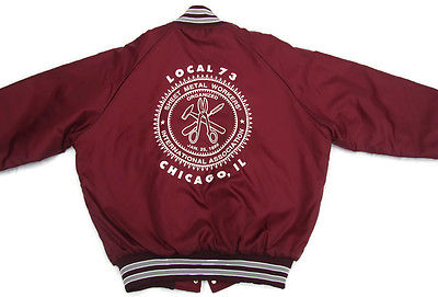 Vintage Jacket Local 73 Sheet Metal Workers CHICAGO IL  International Assc