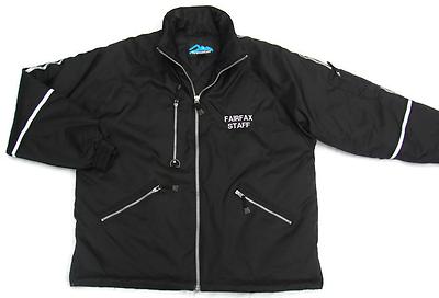 Jacket Tri Mountain Fairfax Staff Black Parka Reflective Strips Large