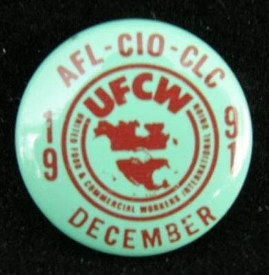 AFL-CIO-CLC December 1991 pinback button