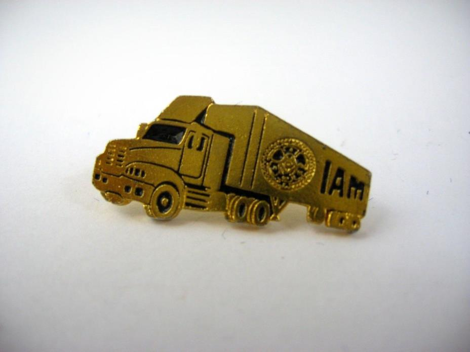 Vintage Collectible Union Pin: IAM Union Truck Gold Tone Nice Design