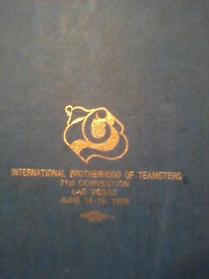 COLLECTORS!!! TEAMSTERS 21ST CONVENTION-LAS VEGAS-1976-LEATHER BOOKS-HISTORY!