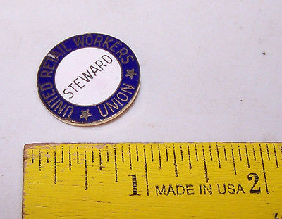 Vintage UNITED RETAIL WORKERS Union STEWARD Pin