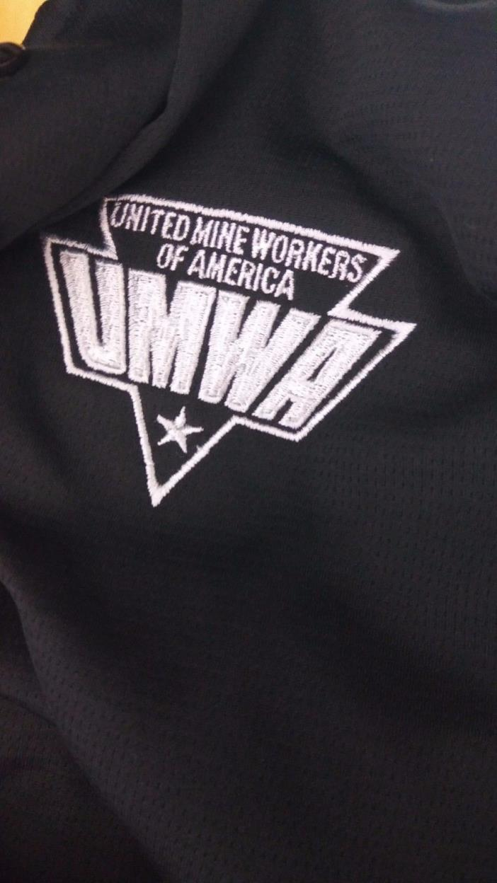 Men's UNITED MINE WORKERS OF AMERICA XL Black K&R Collection Polo Shirt