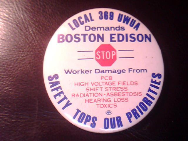 U.W.U.A.  LOCAL UNION 369 Boston Edison PIN