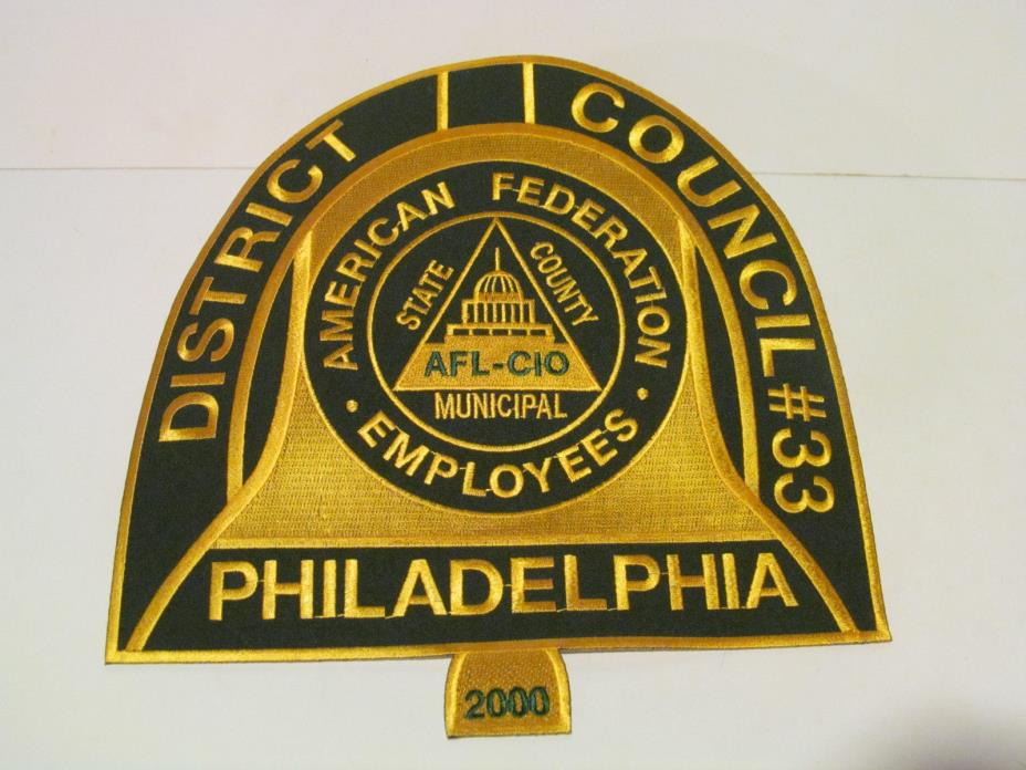American Federation of Municipal State Employee AFL- CIO Patch Philadelphia #33