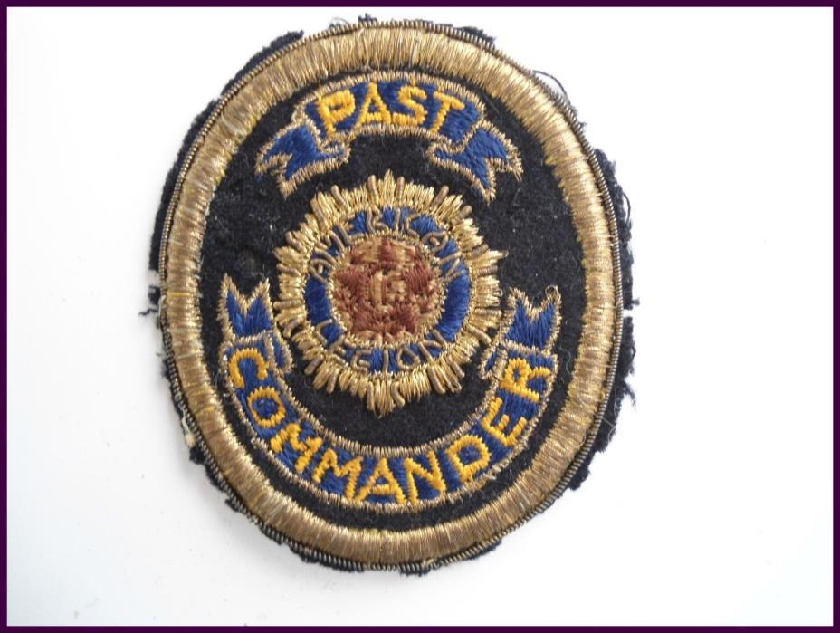 VINTAGE American Legion Past Commander Patch