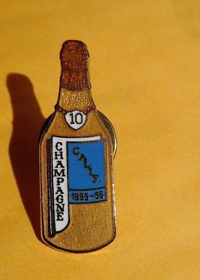 1985 1986 VFW Champagne bottle California 10 year pin Fraternal