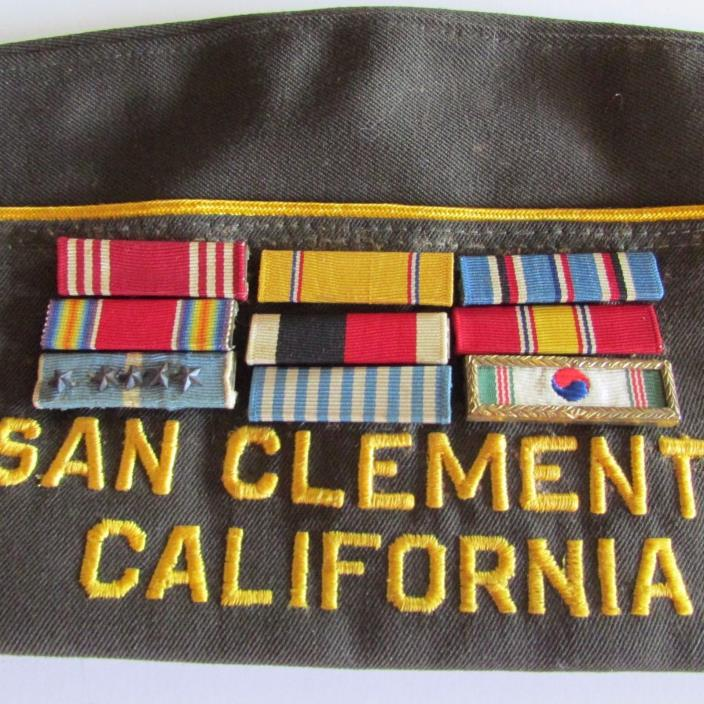 VFW Hat San Clemente CA VFW 7142 9 Pins Costume Military Collectible