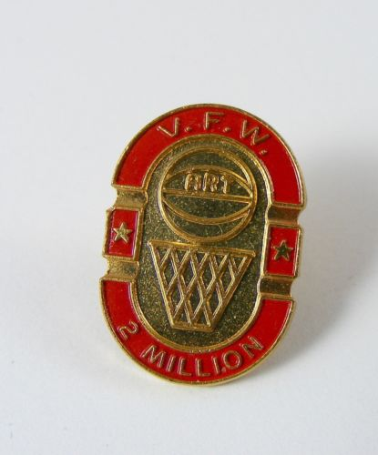 V.F.W. Veterans of Foreign Wars 2 Million Basketball Lapel Pin