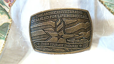 Brass American Disabled Veterans Sponsor Belt Buckle  2007 No. 0369