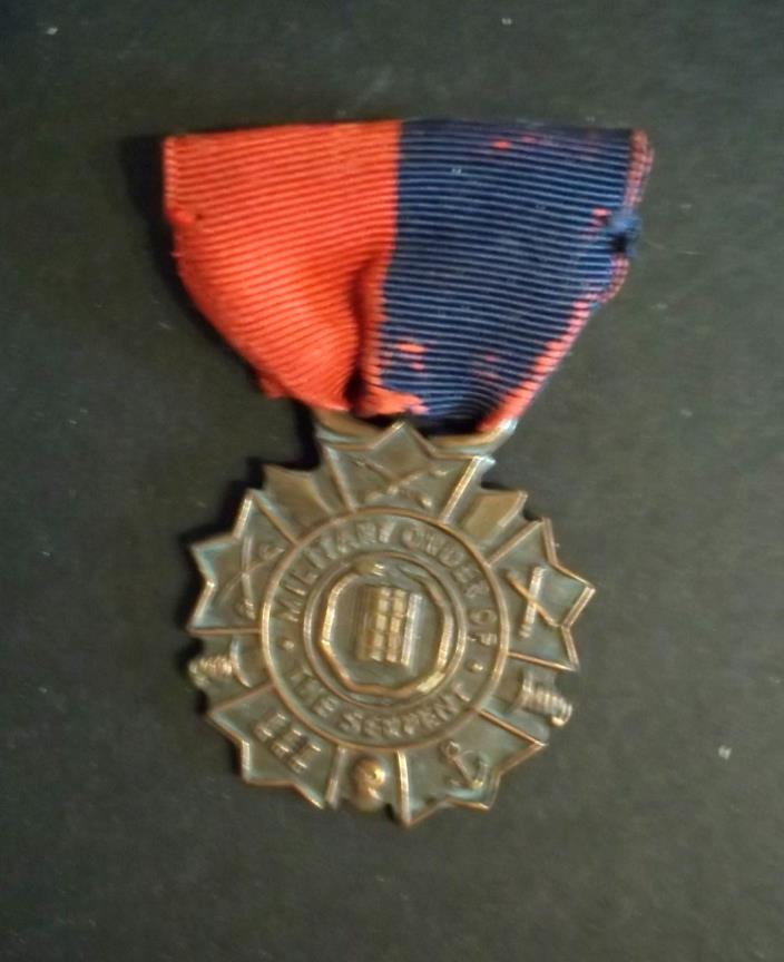 ORIGINAL MILITARY ORDER OF THE SERPENT MEDAL. SPANISH AMERICAN WAR VETERANS
