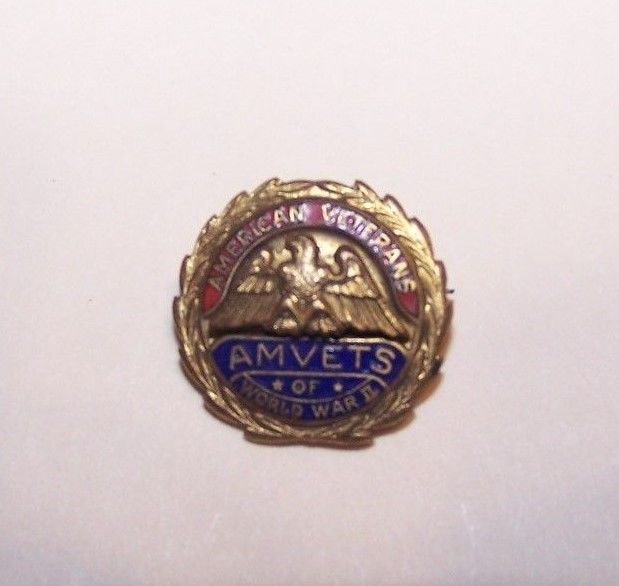 American Veterans AMVETS of World War II pin