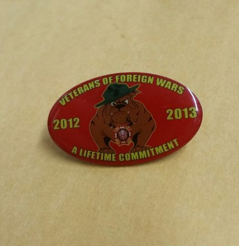 VetPins Veterans Of Foreign Wars A Lifetime Commitment Marines Bulldog 2012-2013