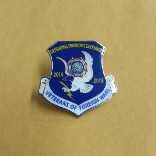 VetPins Veterans Of Foreign Wars Defending Freedom's Defenders 2014-2015 Pin