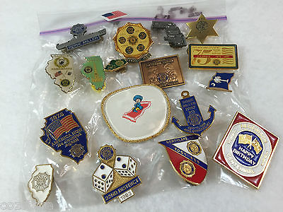 American Legion lapel pin lot of 18 Pin
