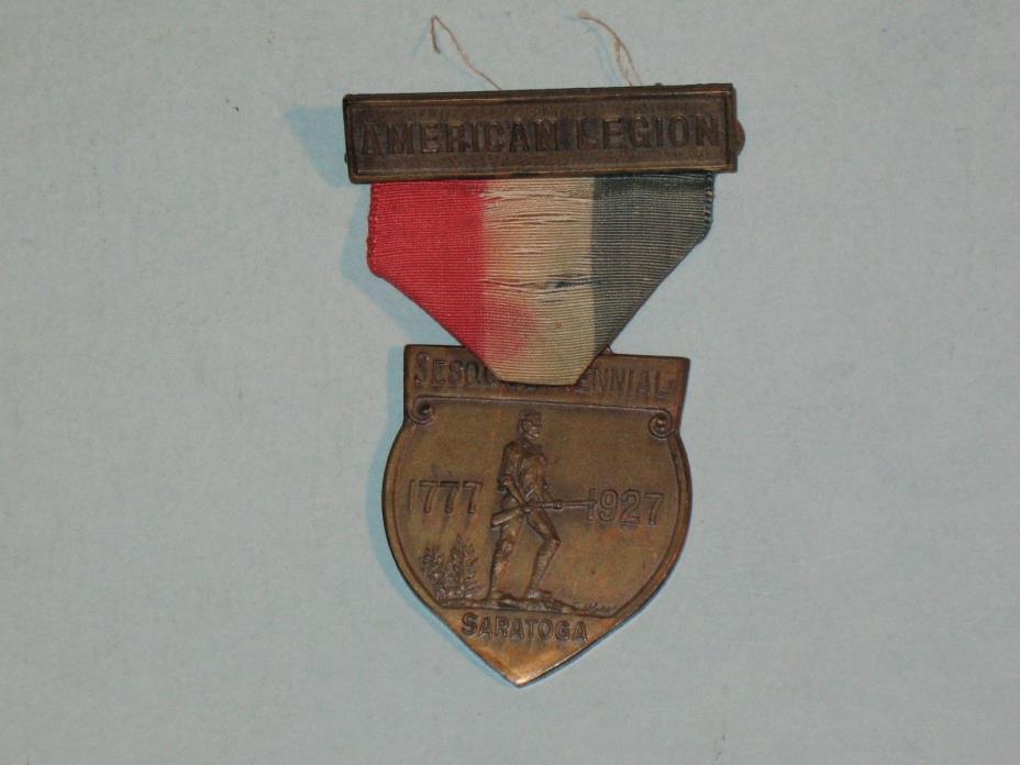 1927 AMERICAN LEGION SESQUICENTENNIAL SARATOGA PINBACK MEDAL ~rare~ look