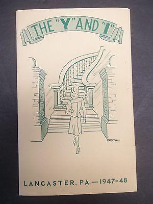 YWCA Lancaster Pennsylvania Brochure 1947 Young Womens Christian Association PA