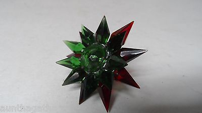 C-6 ILLUMIBRITE MATCHLESS STAR Xmas Light - RED GREEN w GREEN Gem - 500 Size