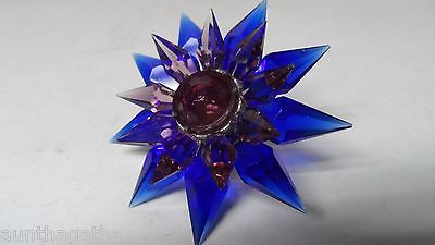 C-6 ILLUMIBRITE MATCHLESS STAR Xmas Light - COBALT PURPLE w PURPLE GEM  700 SIZE