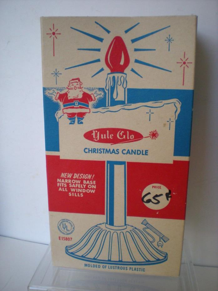 NOS Vintage Yule Glo Christmas Candle Window Light Electric Works