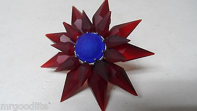 C-6 ILLUMIBRITE MATCHLESS STAR Xmas Light - FROSTED RED RED COBALT - 700 Size