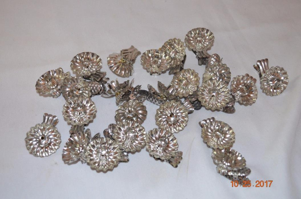 VINTAGE CHRISTMAS TREE CANDLE HOLDERS CLIP ON ORNAMENTS